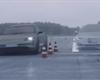 Porsche Taycan zostudilo Teslu v losím testu. Model S se mezi kužely ani nenaskládal
