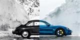 Porsche zopakovalo 60 let starý trik. Poslalo lyžaře do vzduchu přes nový Taycan