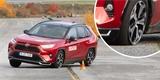 Plug-in hybridní Toyota RAV4 si v losím testu nevedla dobře. Nebyla však sama