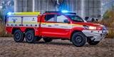 Tato hasičská Toyota má na starosti požáry elektromobilů. Vznikla u české firmy