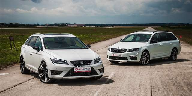 seat leon st cupra vs koda octavia combi rs m en v konu dynamika. Black Bedroom Furniture Sets. Home Design Ideas
