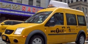 Ford Transit Connect Taxi do služby v NYC