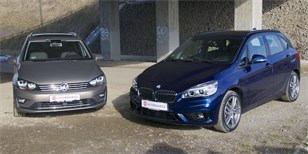 BMW 218d Active Tourer vs. Volkswagen Golf Sportsvan 2.0 TDI